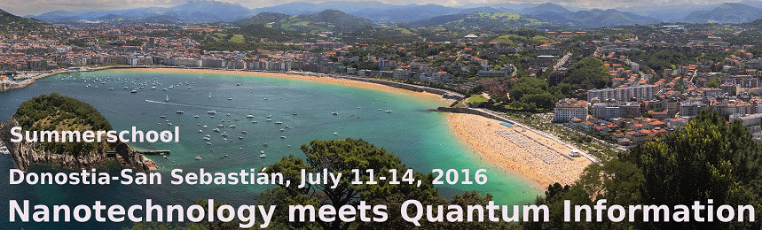Summer School - 11. - 14. Juli 2016 - Donostia-San Sebastian<br /><br />The school reviews the state-of-the-art of solid-state based quantum information processing in settings such as quantum dots, superconductors, photonic crystals, and topological matter. Prospects of quantum computing and the study of quantum many-body physics are explored. The school is oriented towards Master/PhD students and young postdocs with a background in nanotechnologies, condensed matter or quantum optics and an interest in the methods and applications of quantum information.
